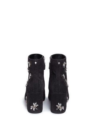 Back View - Click To Enlarge - Sam Edelman - 'Taye' jewelled insect suede ankle boots