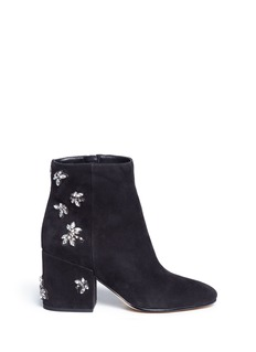 Sam Edelman'Taye' jewelled insect suede ankle boots