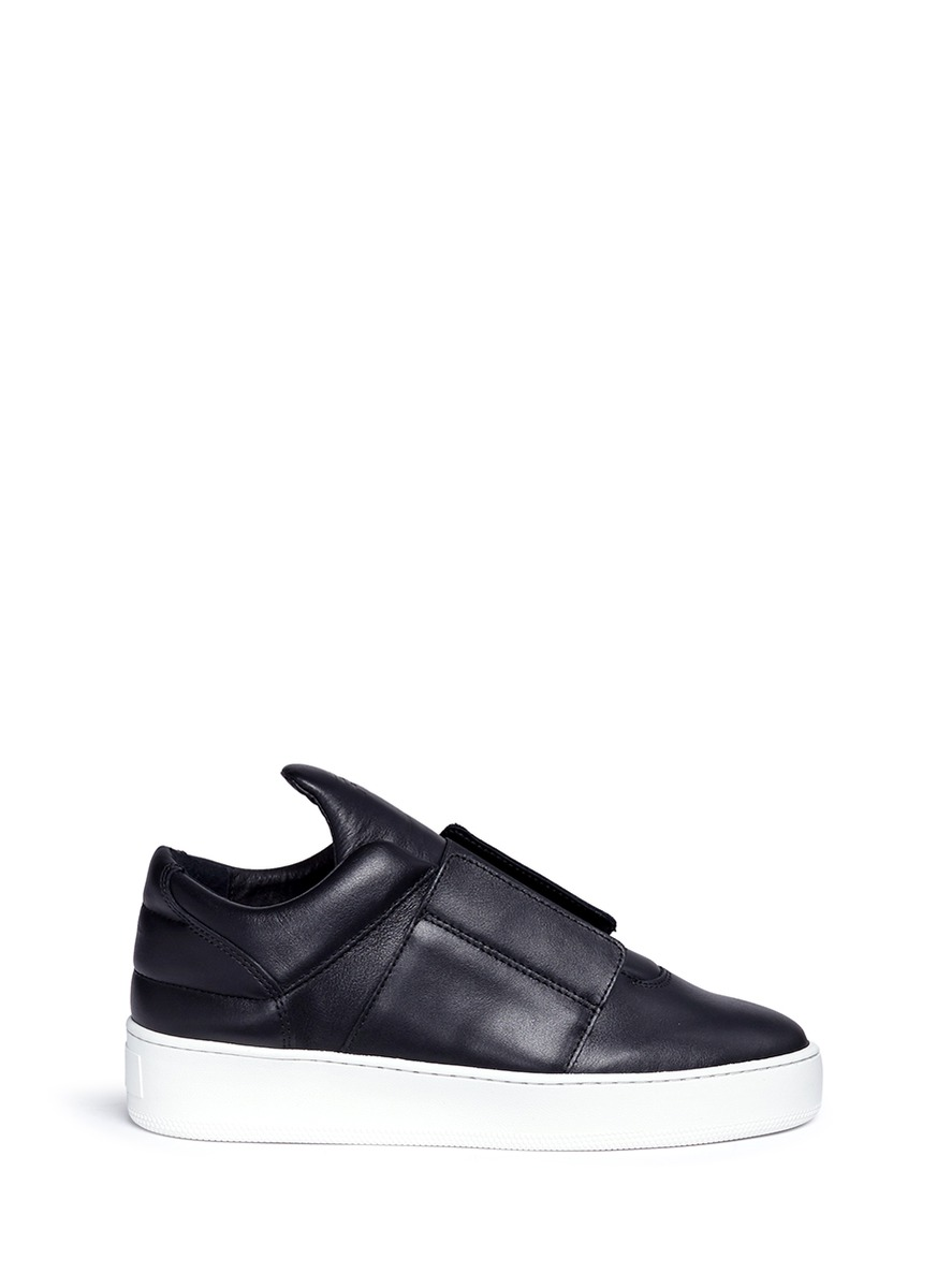 Mountain Cut leather slip-on sneakers by Filling Pieces