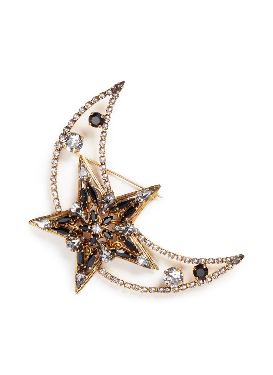 x Anna Sui American Graffiti Swarovski crystal brooch by Erickson Beamon
