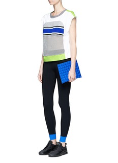 No Ka'Oi Colourblock performance leggings with gummed zip pouch