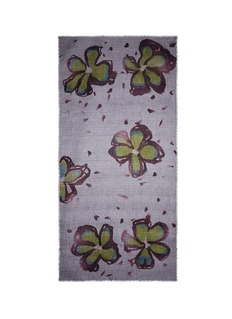 Ish Floral print cashmere scarf