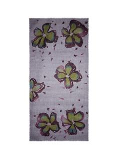 IshFloral print cashmere scarf