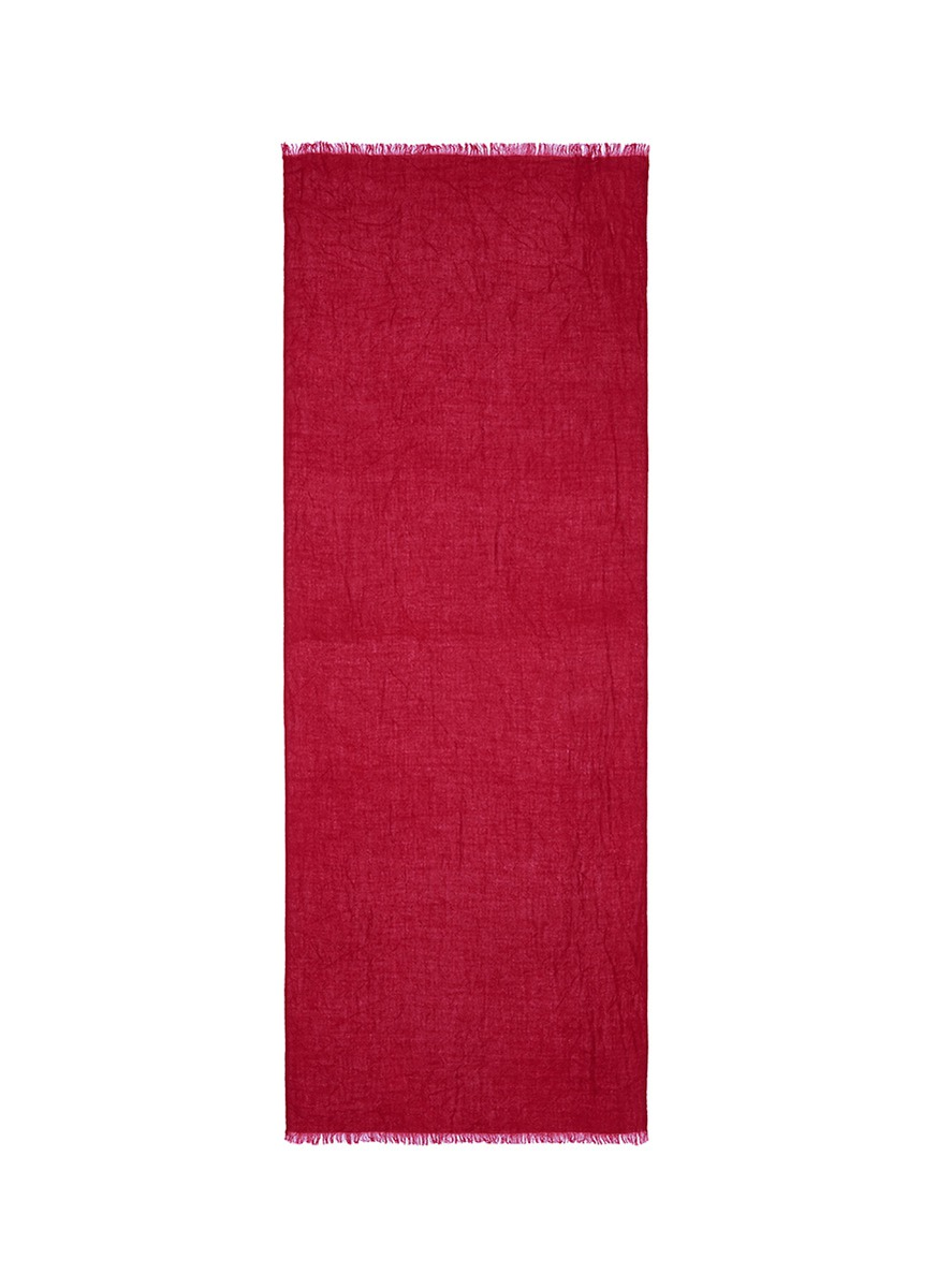 Raw edge cashmere scarf by Ish