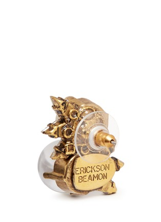 Detail View - Click To Enlarge - Erickson Beamon - 'Dancing Queen' 24k gold plated glass pearl stud earrings