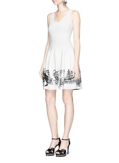 Alexander McQueen Sea creature intarsia sleeveless dress