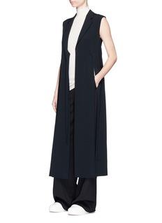 Calvin Klein Collection'Edino' cashmere turtleneck sleeveless knit top