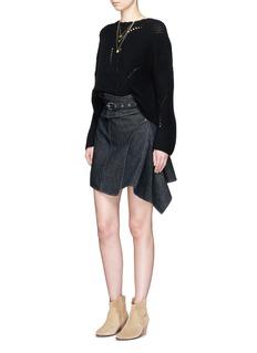 Isabel Marant'Eydie' asymmetric wrap belted denim skirt