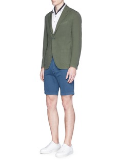 AlteaFace patch gabardine Bermuda shorts