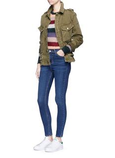 Topshop'Jamie' high waist ankle grazer jeans
