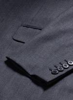 Notch lapel textured wool suit