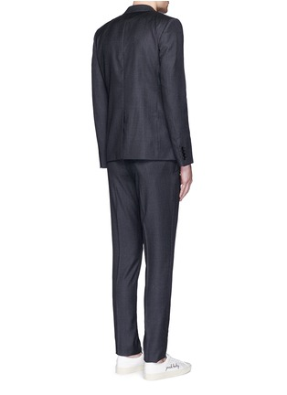 Back View - Click To Enlarge - Saint Laurent - Notch lapel textured wool suit
