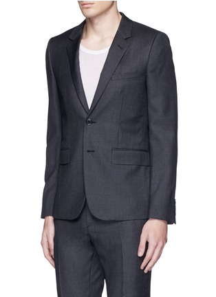 Front View - Click To Enlarge - Saint Laurent - Notch lapel textured wool suit