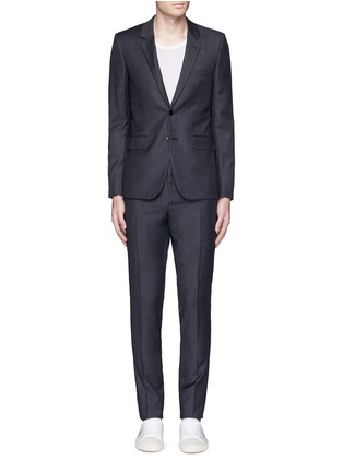 Main View - Click To Enlarge - Saint Laurent - Notch lapel textured wool suit