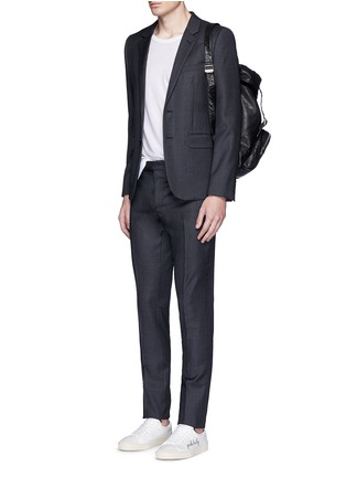 Figure View - Click To Enlarge - Saint Laurent - Notch lapel textured wool suit