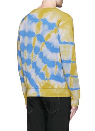 Back View - Click To Enlarge - Saint Laurent - Distressed tie dye sweatshirt