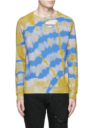 Main View - Click To Enlarge - Saint Laurent - Distressed tie dye sweatshirt