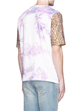Back View - Click To Enlarge - SAINT LAURENT - Leopard print tie dye effect T-shirt