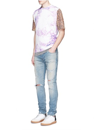 Figure View - Click To Enlarge - SAINT LAURENT - Leopard print tie dye effect T-shirt