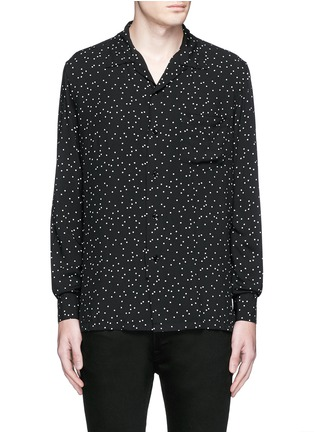 Saint Laurent - Polka dot crepe shirt
