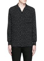 Polka dot crepe shirt