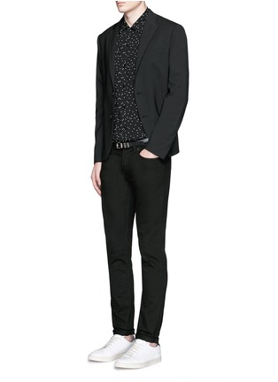 Figure View - Click To Enlarge - YSL Beauté - Polka dot crepe shirt