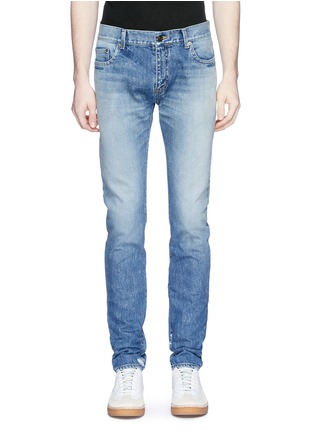 Detail View - Click To Enlarge - SAINT LAURENT - Dark wash skinny jeans
