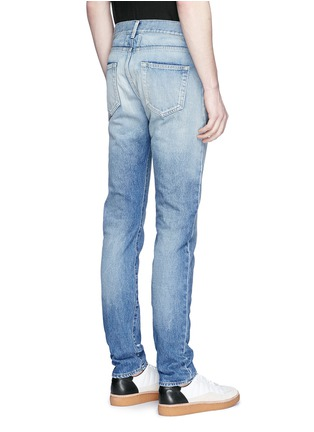 Back View - Click To Enlarge - SAINT LAURENT - Dark wash skinny jeans