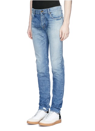 Front View - Click To Enlarge - SAINT LAURENT - Dark wash skinny jeans
