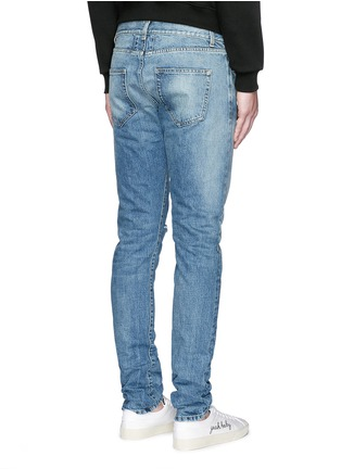 Back View - Click To Enlarge - Saint Laurent - Destroyed knee patch skinny jeans