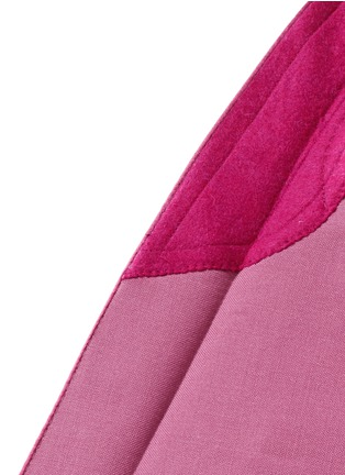 Detail View - Click To Enlarge - Saint Laurent - Satin shawl lapel wool-Mohair blazer