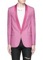 Satin shawl lapel wool-Mohair blazer