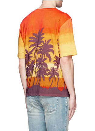 Back View - Click To Enlarge - SAINT LAURENT - Sunset print T-shirt