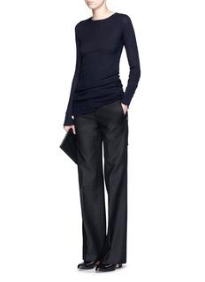 HELMUT LANGRaw seam double cotton flare pants