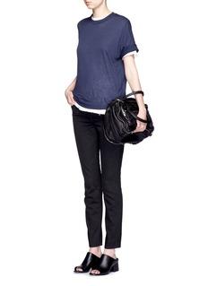 HELMUT LANGWhiskered skinny fit tapered jeans