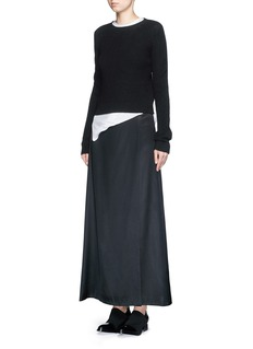 HELMUT LANGSatin twill overlap maxi skirt