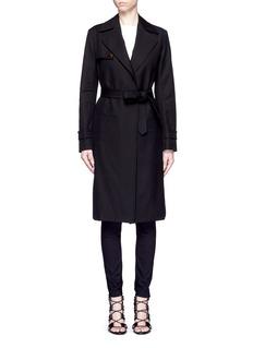 HELMUT LANGCotton herringbone trench coat