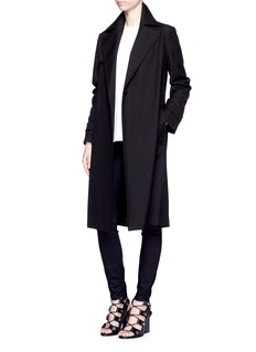 HELMUT LANG Cotton herringbone trench coat