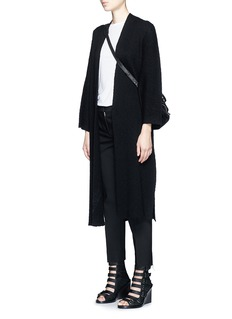 HELMUT LANG Wide sleeve cashmere-cotton long cardigan