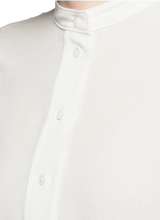 Detail View - Click To Enlarge - Helmut Lang - 'Scoop' wide sleeve Cavalry twill top