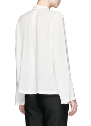 Back View - Click To Enlarge - Helmut Lang - 'Scoop' wide sleeve Cavalry twill top