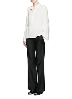 HELMUT LANG 'Scoop' wide sleeve Cavalry twill top