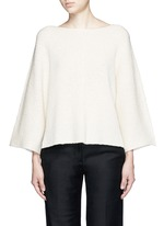 Wide sleeve cashmere-cotton sweater