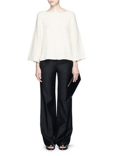 HELMUT LANG Wide sleeve cashmere-cotton sweater