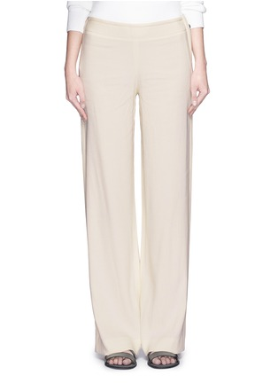 Main View - Click To Enlarge - Helmut Lang - Ramie crepe wide flare pants