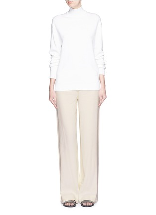 Figure View - Click To Enlarge - Helmut Lang - Ramie crepe wide flare pants
