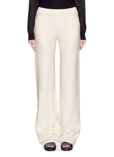 HELMUT LANG French terry wide leg pants