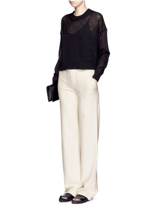 Helmut Lang - French terry wide leg pants