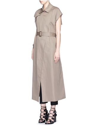 Helmut Lang - Double face cotton-linen sleeveless trench vest