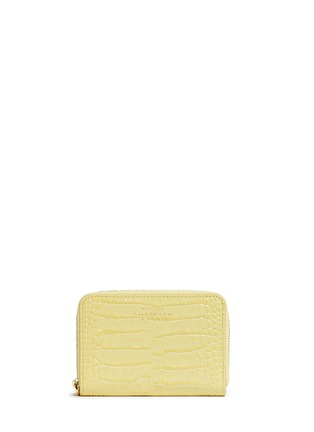 - Smythson - Mara croc effect leather coin purse